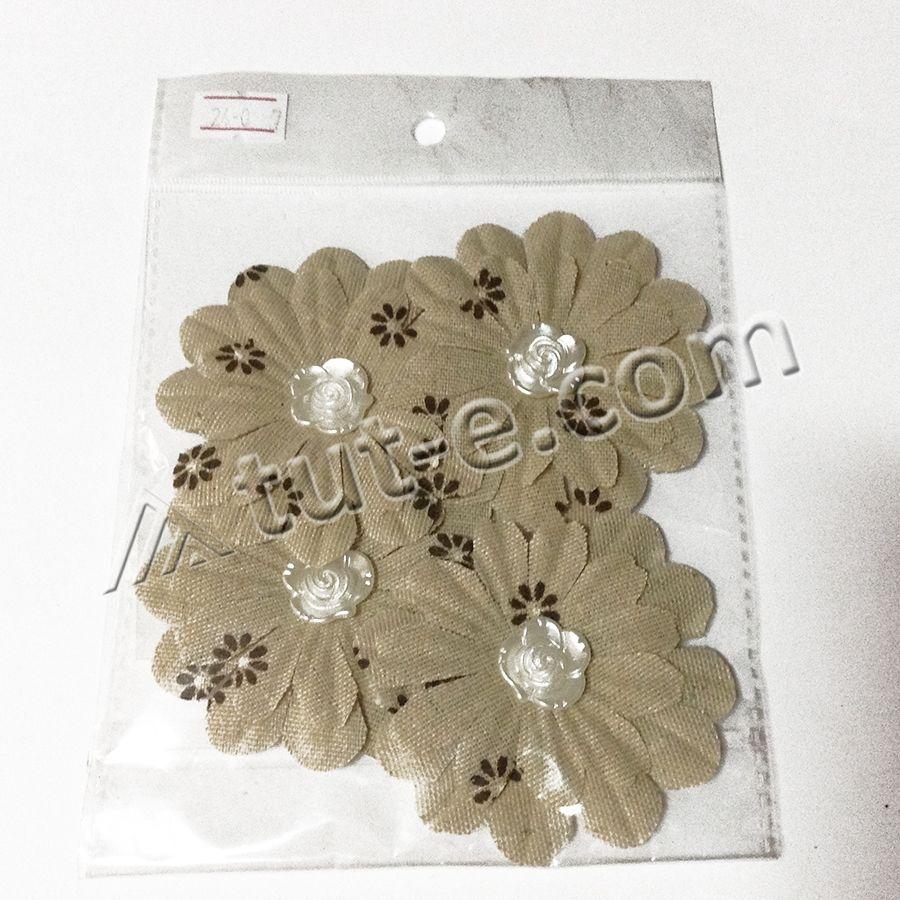 Цветы тканевые для декора и скрапбукинга - Изображение 2
