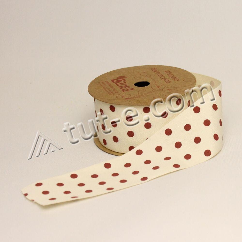 Лента тканевая в горох 4см-4,5м - Изображение 2