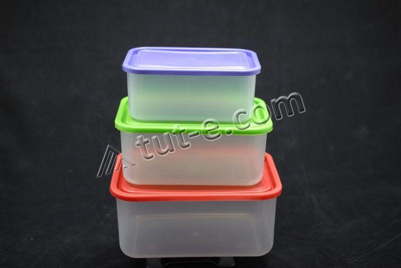 Лоток прямоугольный 3 в 1 (контейнеры пищевые 0,8л + 1,2л + 1,9л) - Изображение 2