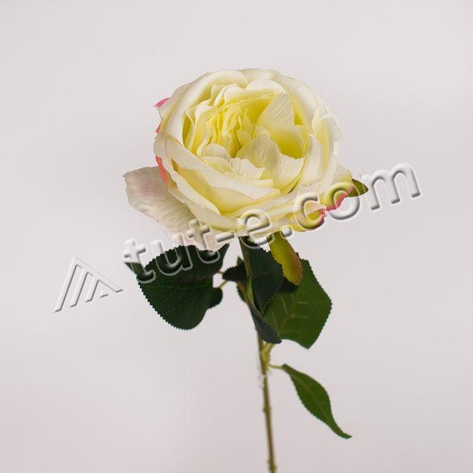 Ветка розы бордовая 65см - Изображение 2