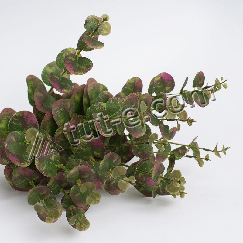 Куст эвкалипта зеленый с бордовыми вкраплениями - Изображение 2
