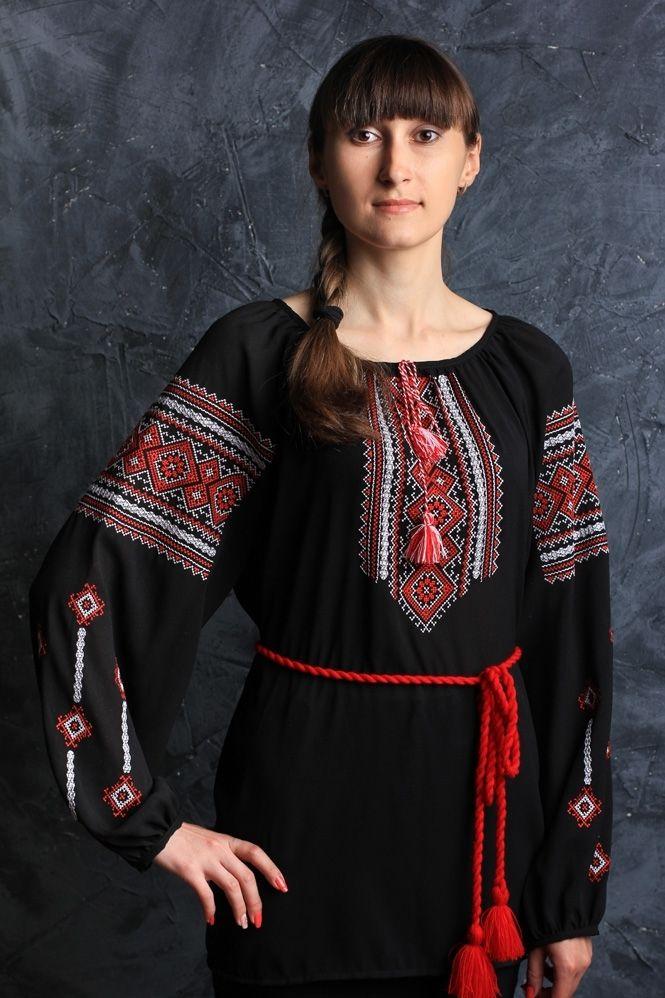 Женская шифоновая блуза с орнаментом