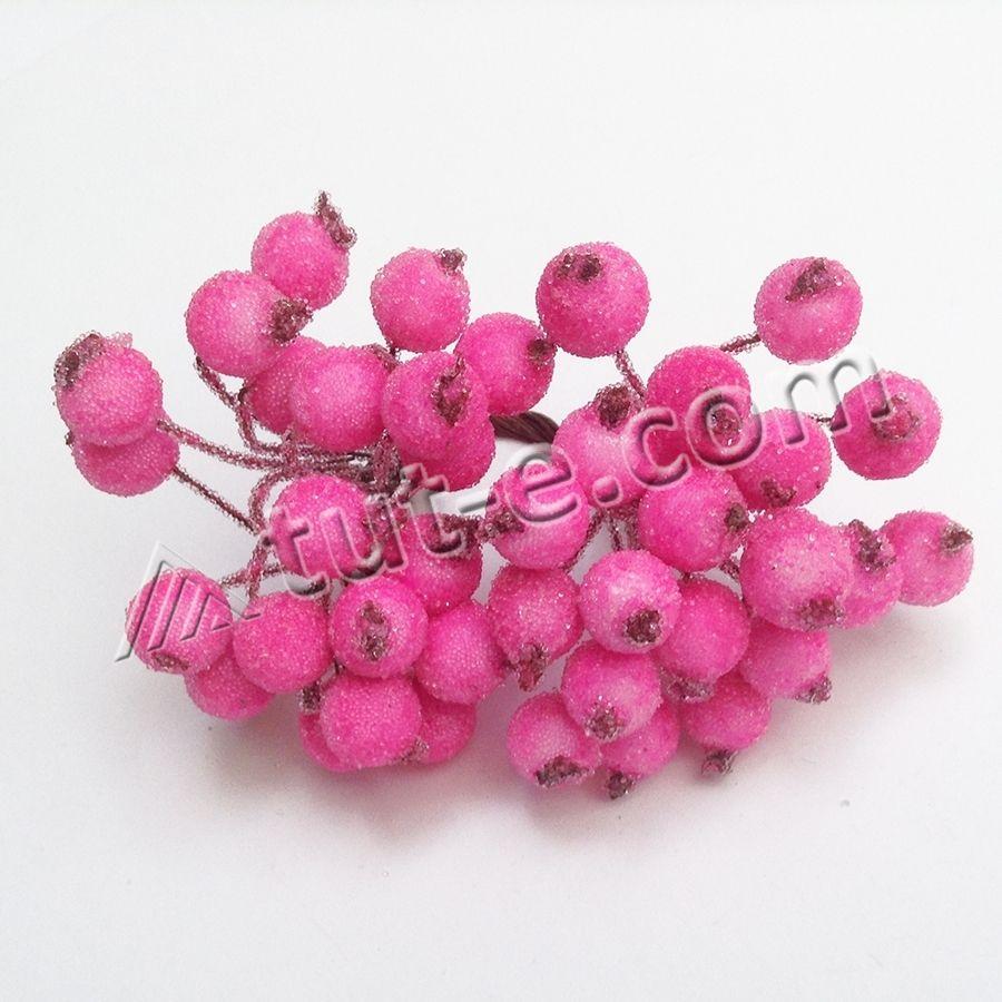 Пучок ягод в сахаре розовые