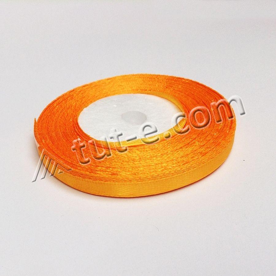 Лента 7 мм  ярко-оранжевая