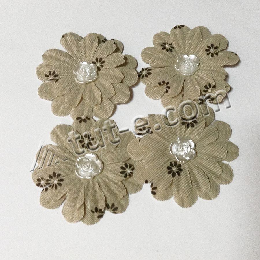 Цветы тканевые для декора и скрапбукинга