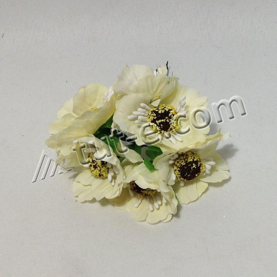 Цветок для декора мак молочный