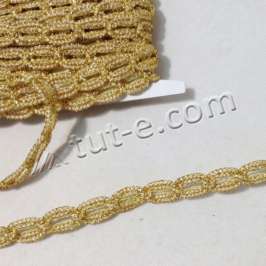 Шнур цепочка средняя золотой 1см