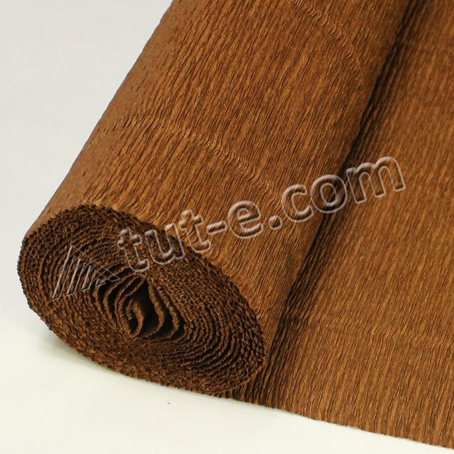 Бумага гофрированная темно коричневая 568