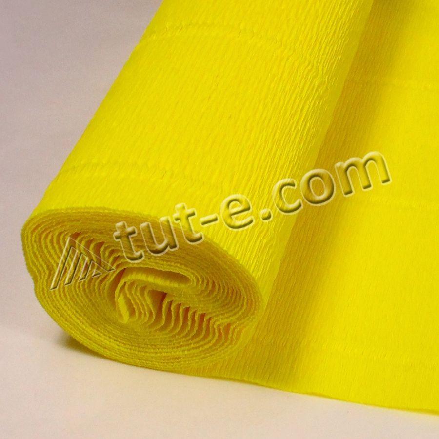 бумага гофрированная лимонная 575