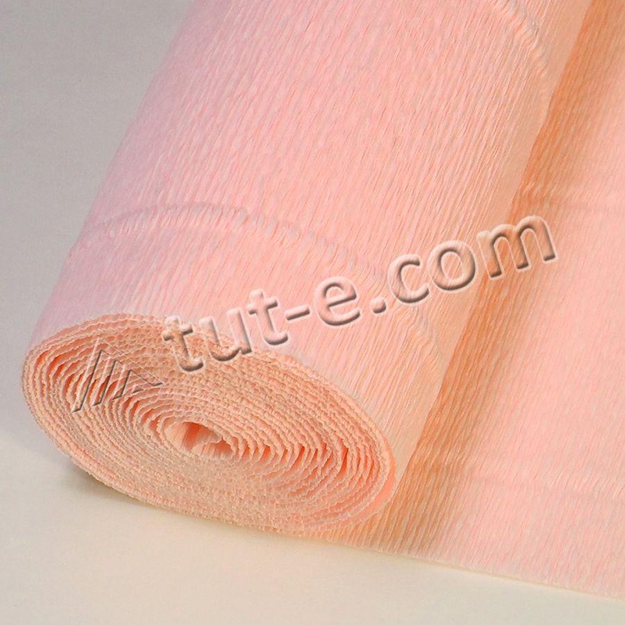 Бумага гофрированная светло розовая 569