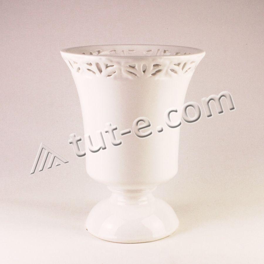 Ваза-кашпо керамическая 18х13см