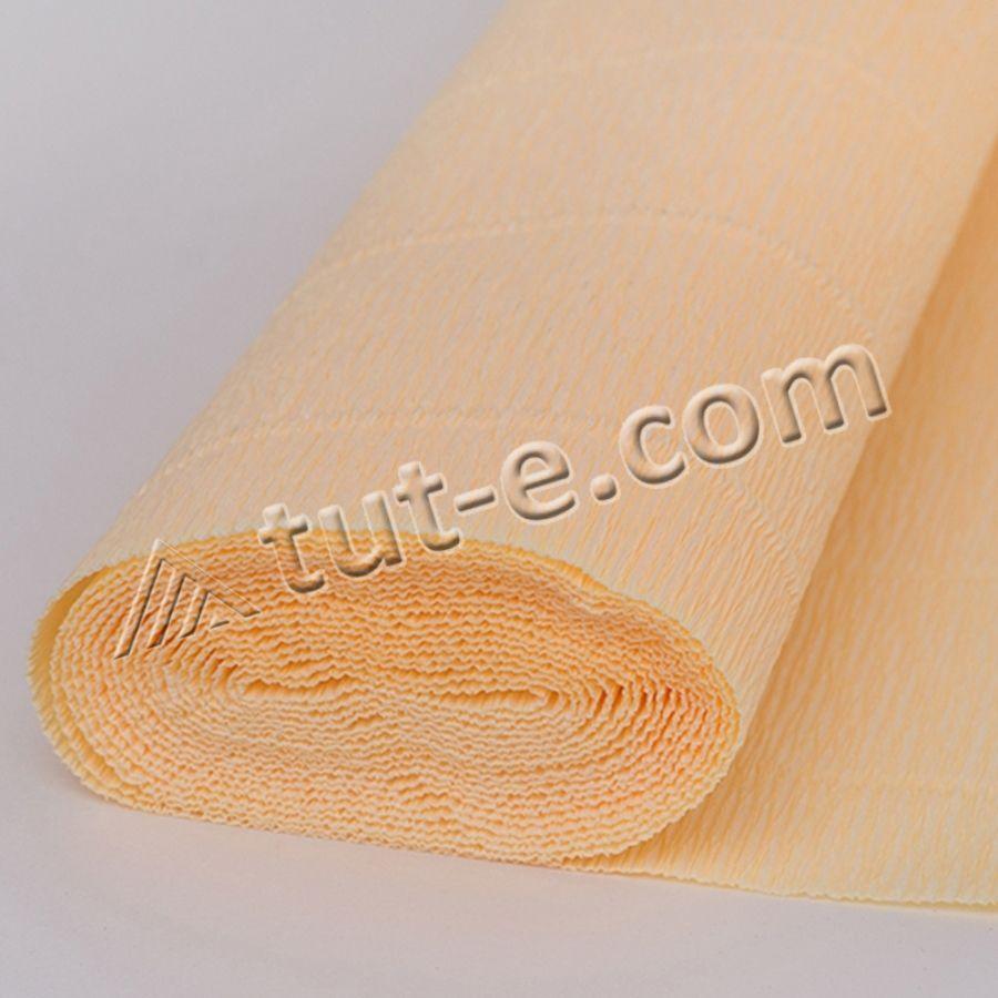 Бумага гофрированная бледно желтая 577