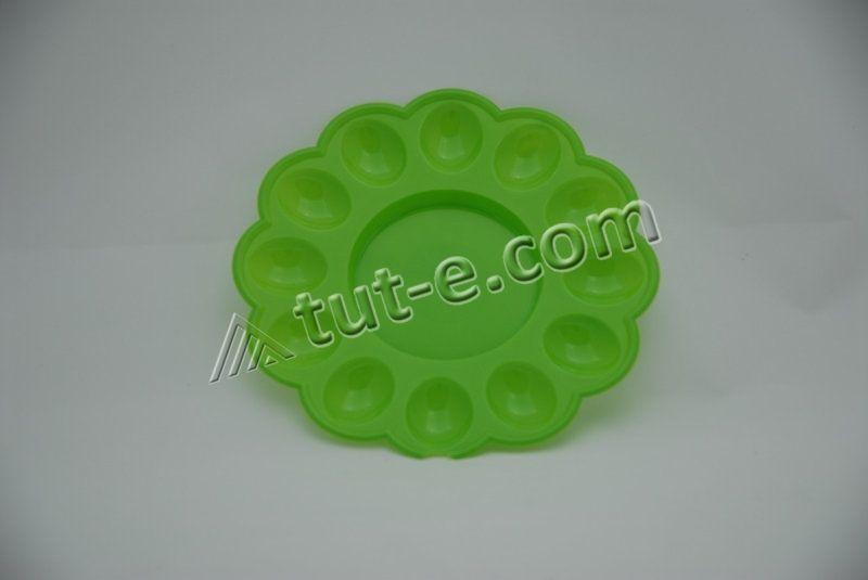 Блюдо пасхальное O 24.5 (цв.зеленый)