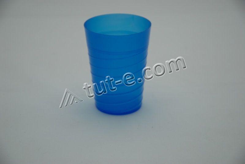 Стакан 300 мл (цв.синий-прозрачный)