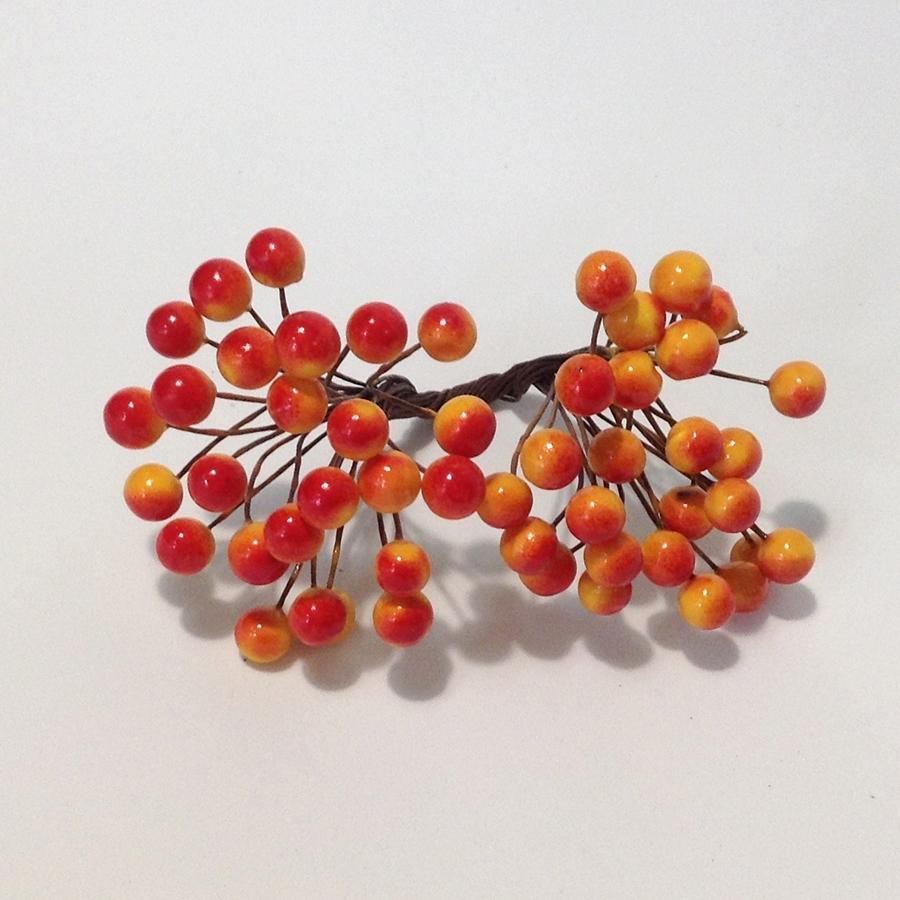 Ягодка калина оранжево-красная - 8мм