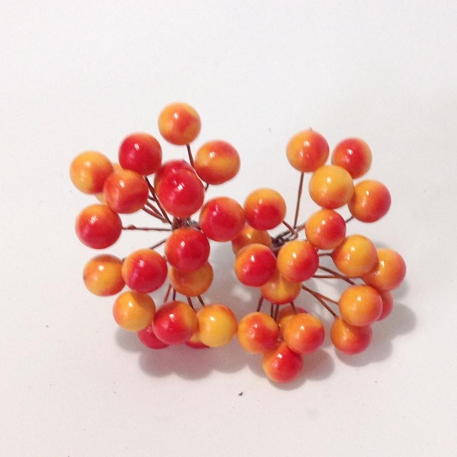 Ягода калина желто-оранжевая - 10мм