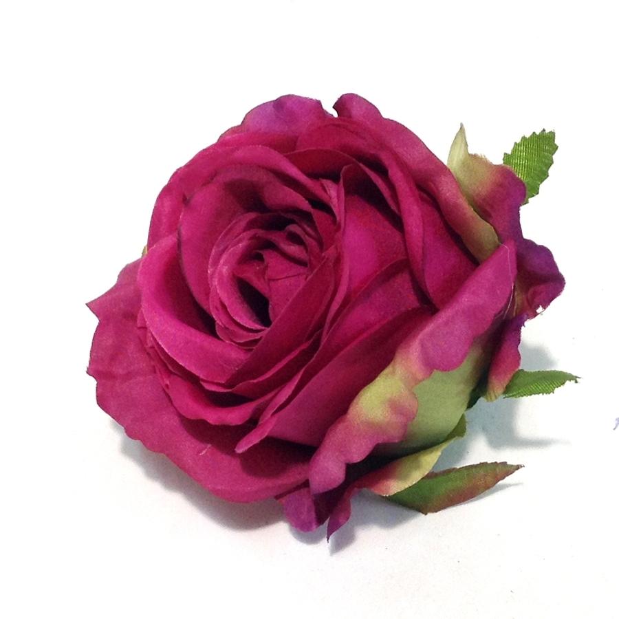Головка розы КАРДИНАЛ малиновая - 6шт