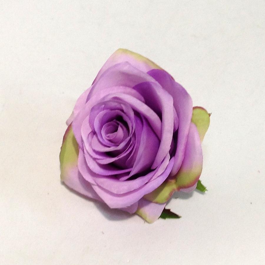 Головка розы ФЛАМИНГО сиреневая