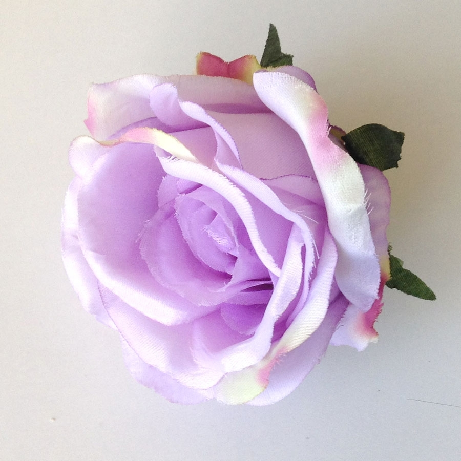 Головка розы ЛЮКСОР полураскрытая крупная лавандовая