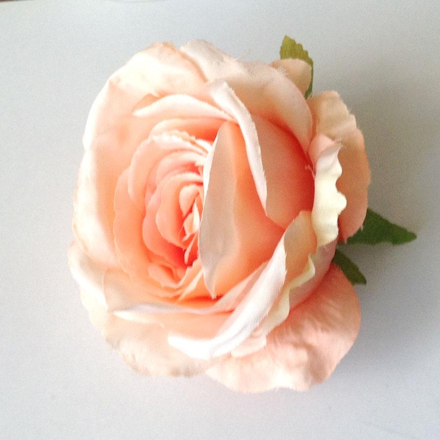Головка розы ВОСТОРГ персиковая
