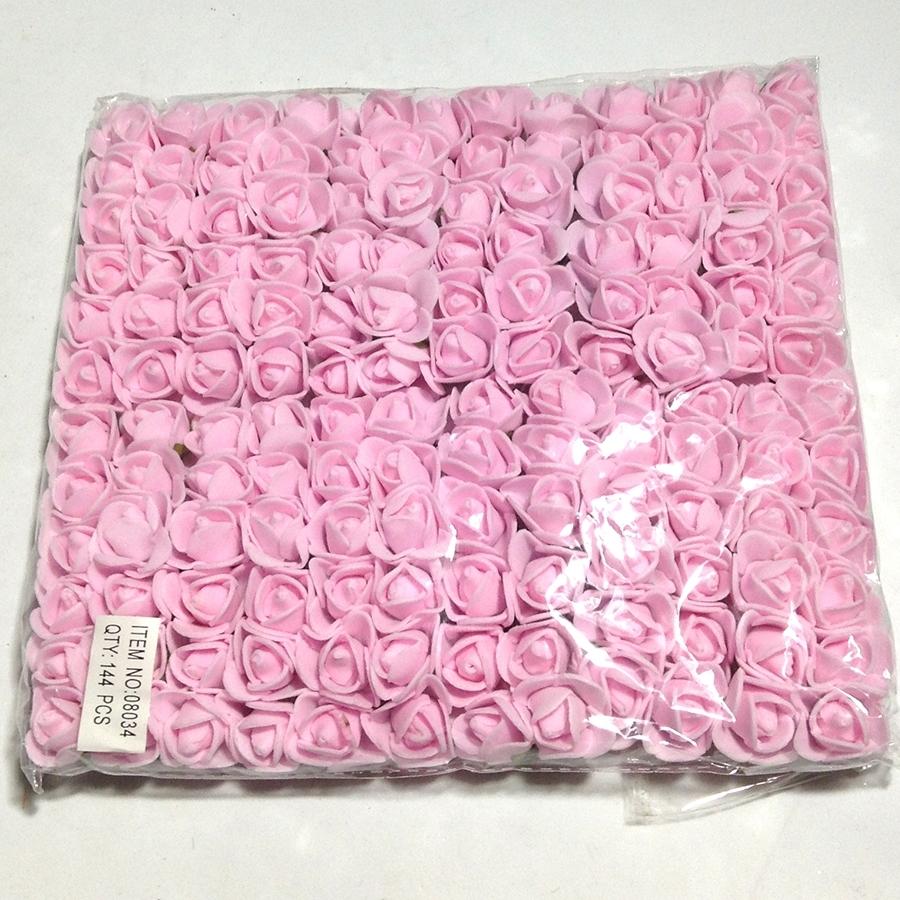 Розочки из фоамирана светло-розовые 15мм