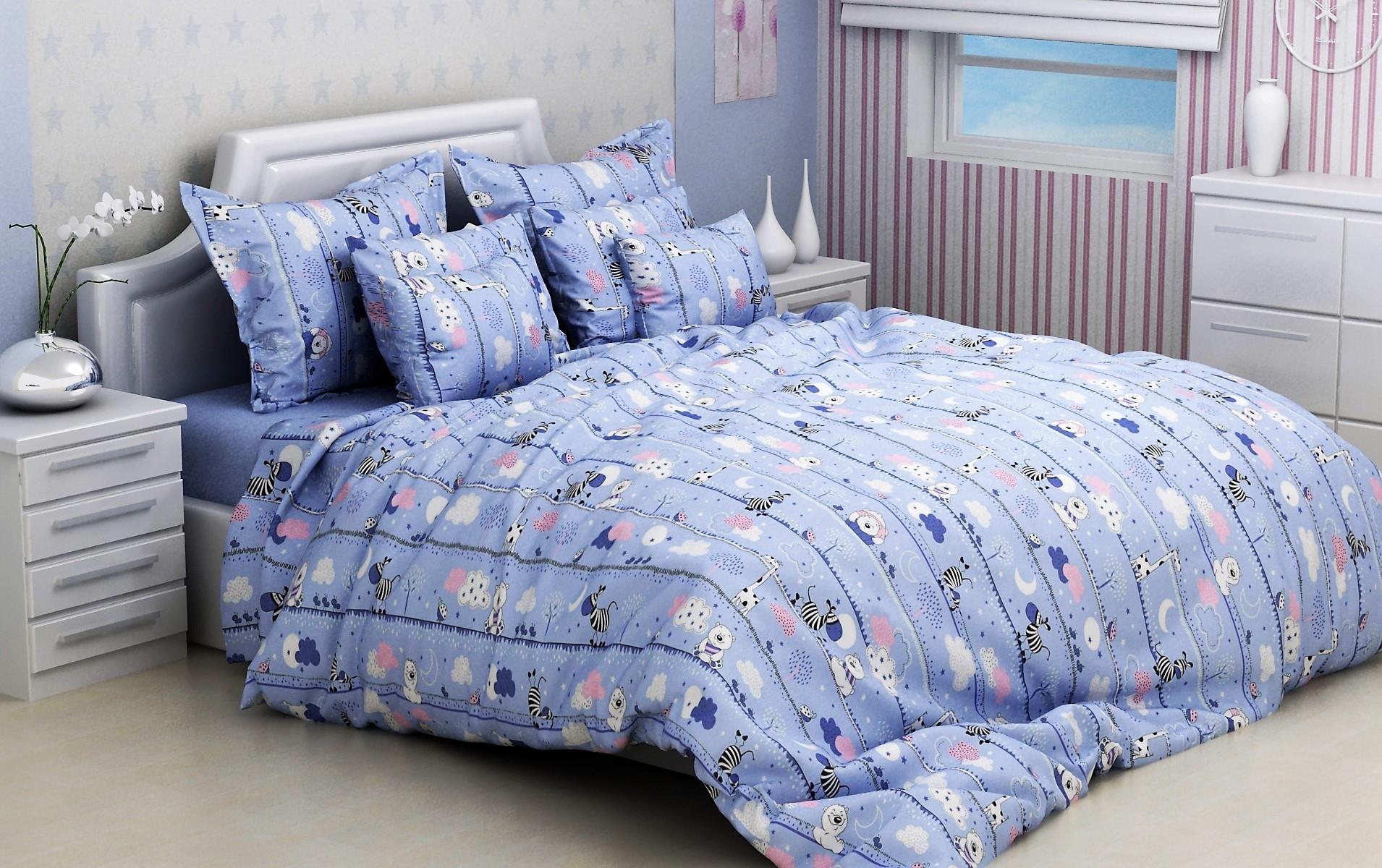 постельное белье в кроватку бязь ДКБ-3004c