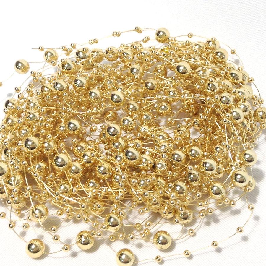 жемчуг золотой на леске 1.2м-10шт