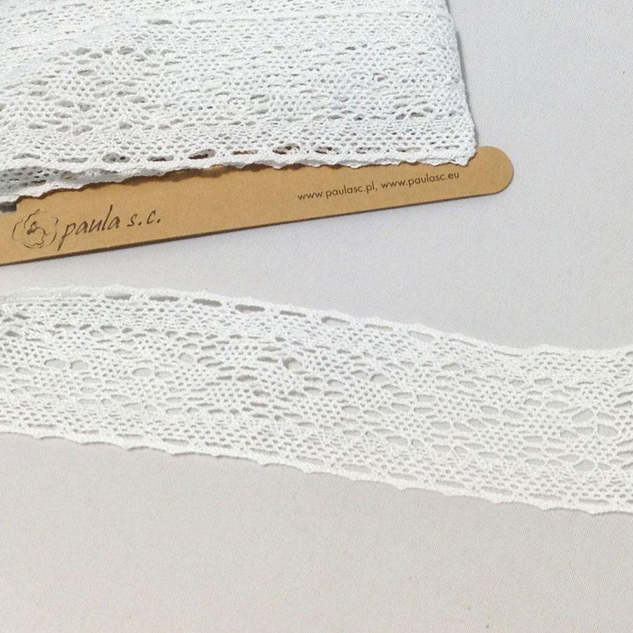 Кружево натуральное 5см белое - 4,5м