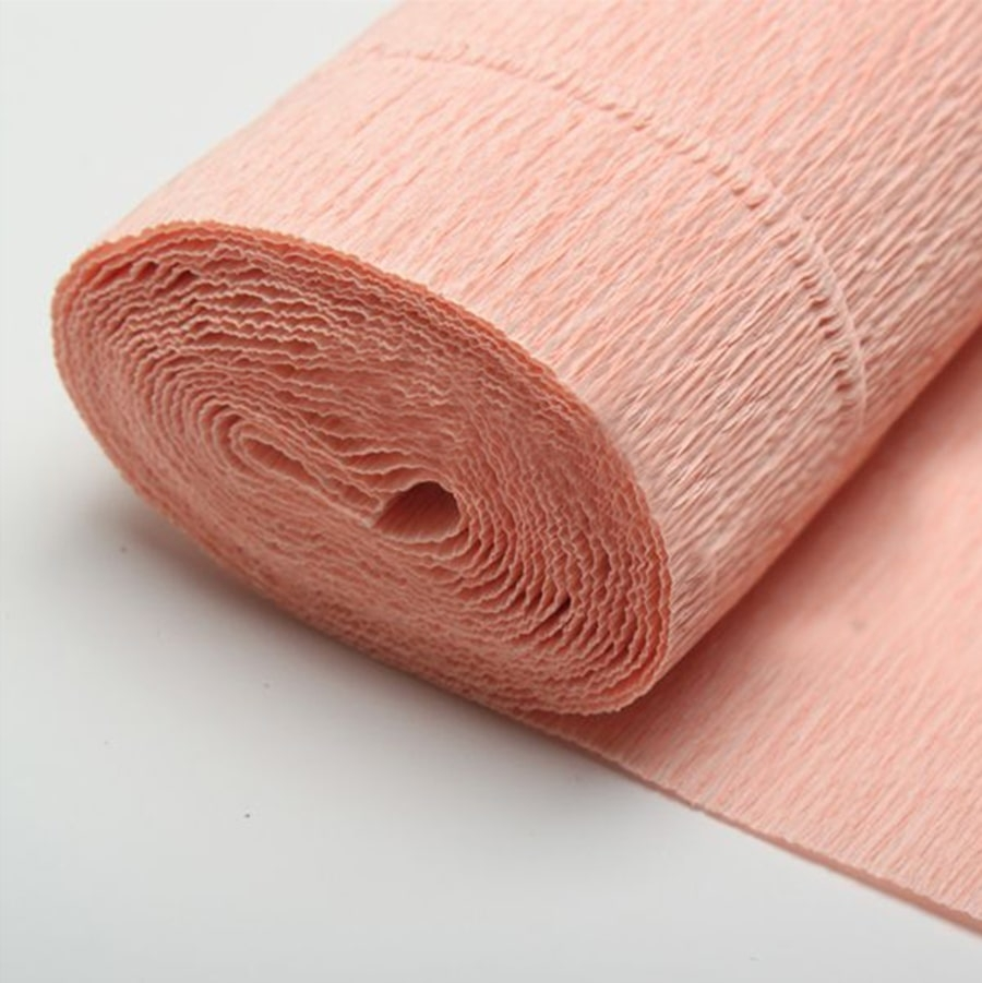 Бумага гофрированная кофейно-розовая 17А2