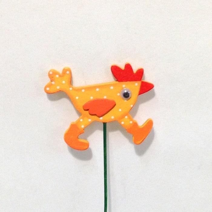 Декор Бегущий петушок оранжевый