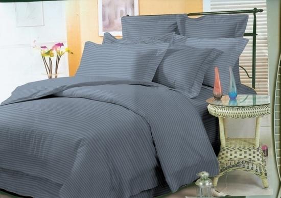 комплект постельного белья страйп-сатин ЕСС-3916