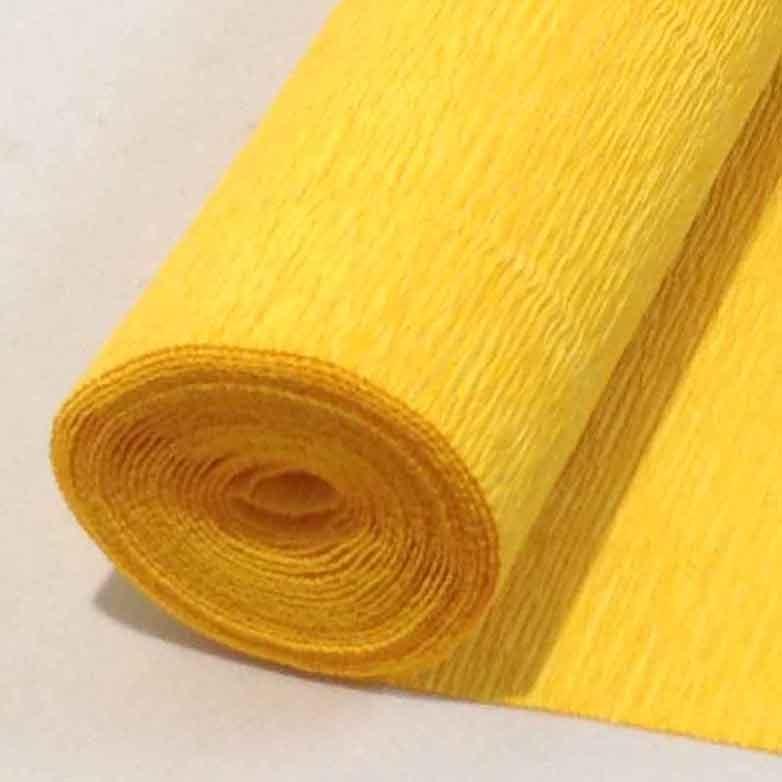 Бумага гофрированная ярко-желтая 17Е5