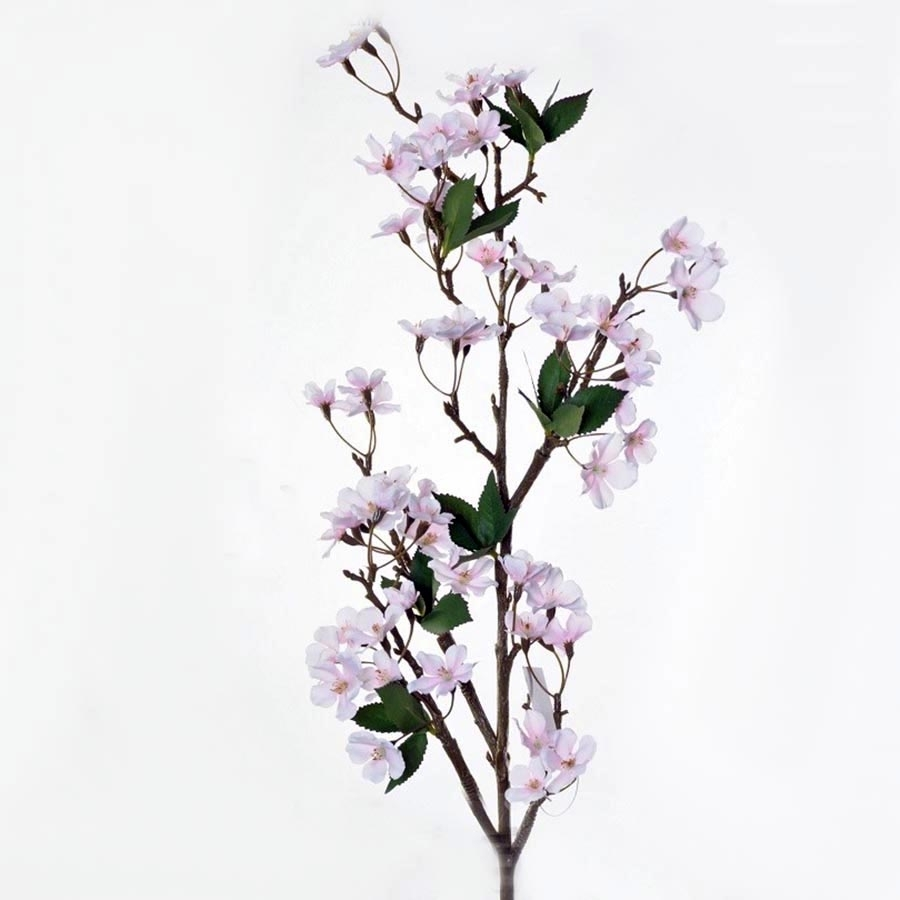 Веточка яблоневого цвета светло-розовая 105см