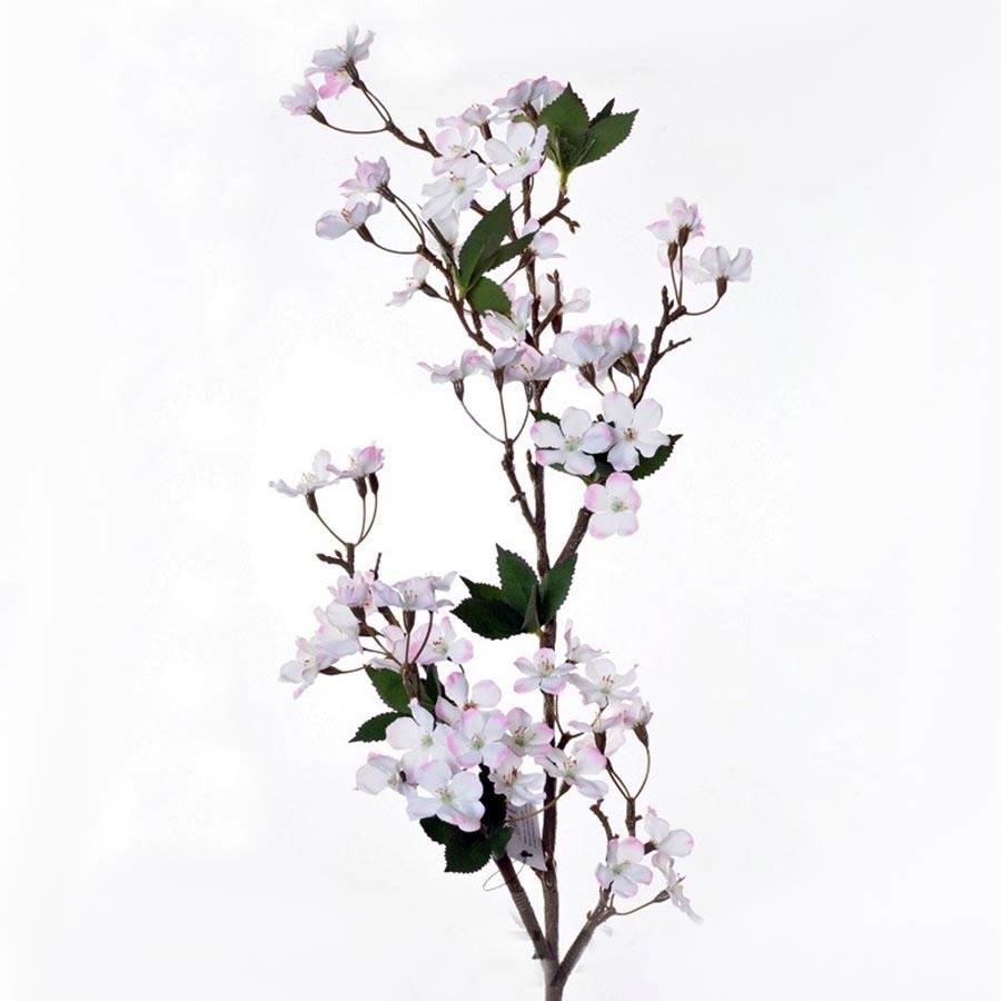 Веточка яблоневого цвета бело- розовая 105см