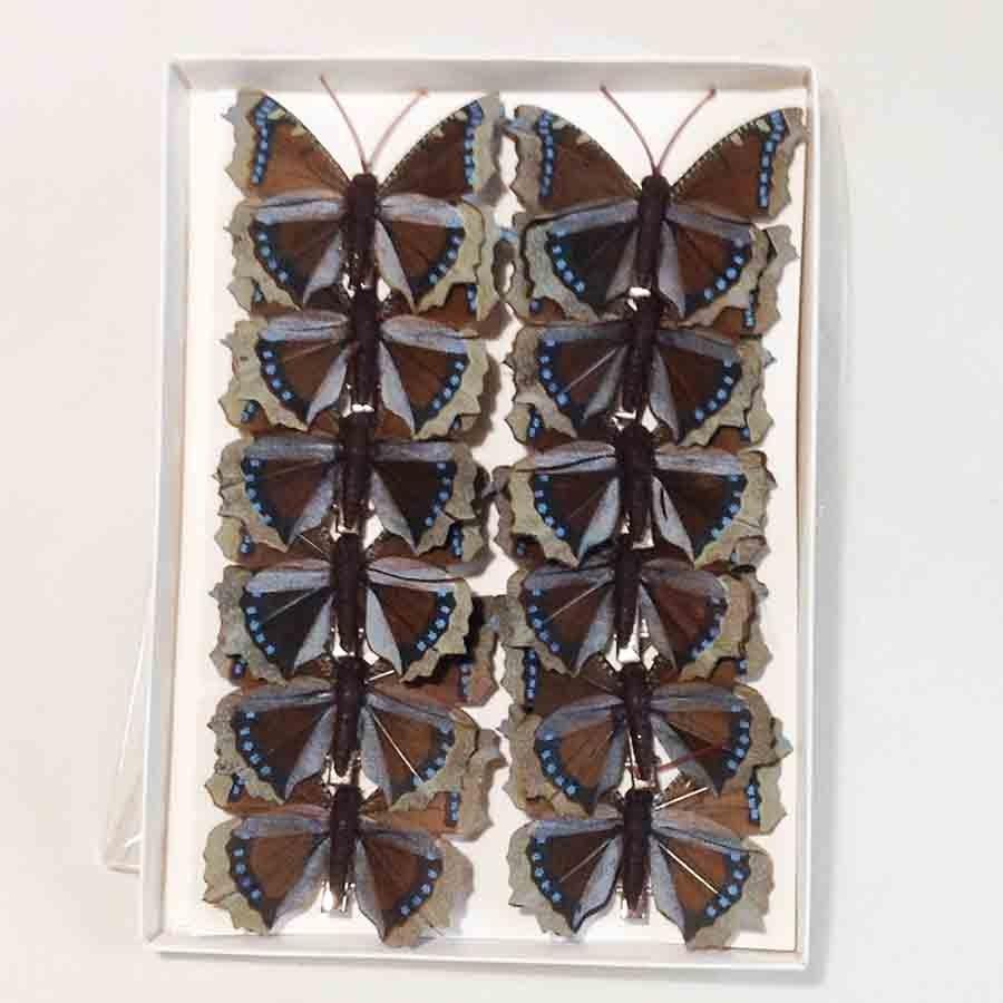 Набор бабочек 8см - 12шт