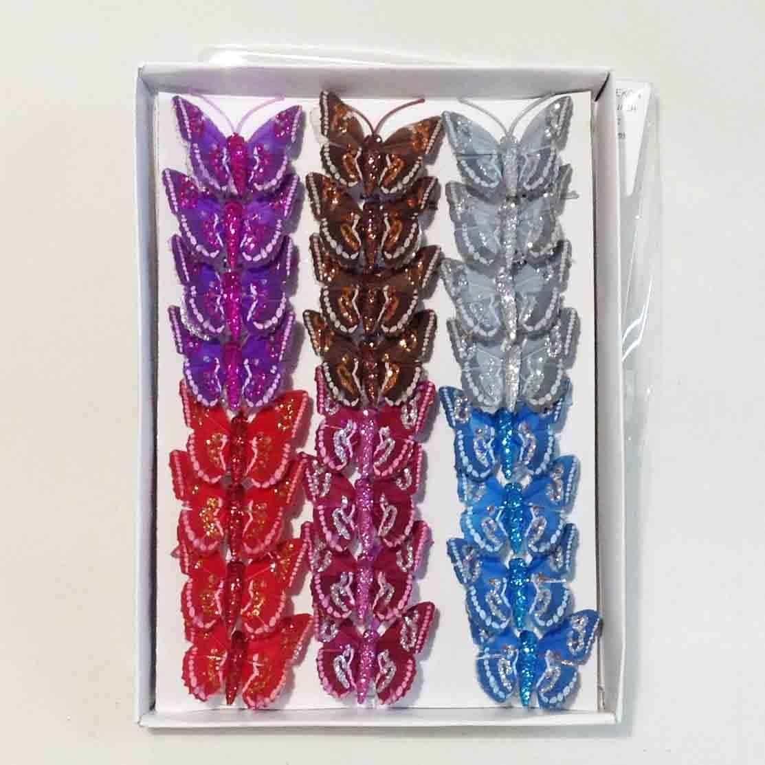 Набор бабочек 5см - 24шт