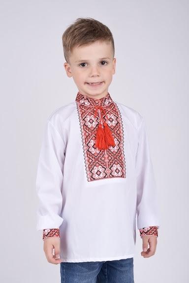 Вышитая рубашка для мальчика с орнаментом