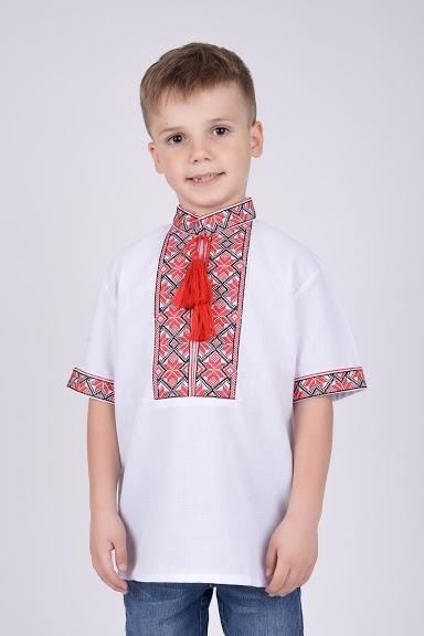 Вышиванка на мальчика короткий рукав