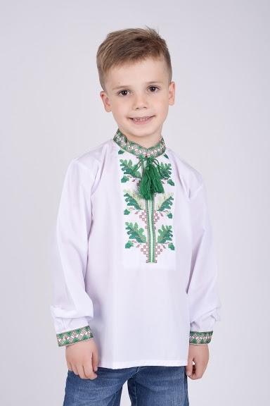 Вышиванка на мальчика зеленая вышивка