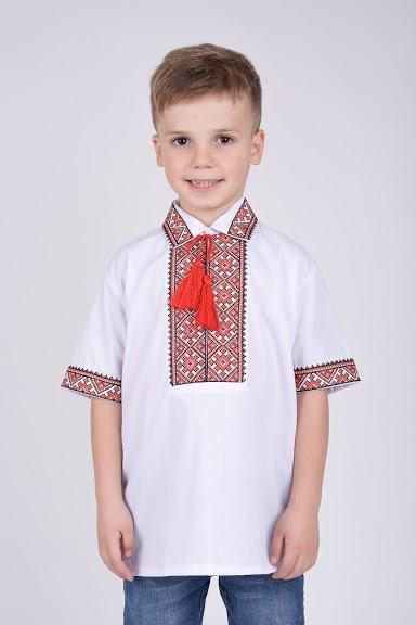 Вышитая рубашка короткий рукав на подростка