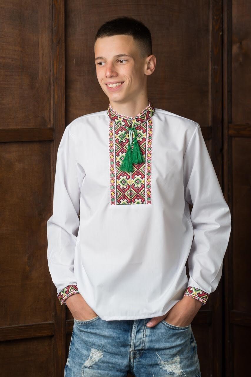 Подростковая вышитая рубашка2