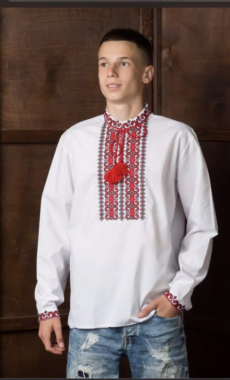 Подростковая рубашка-вышиванка6