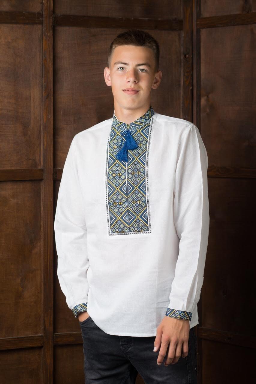 Вышитая мужская рубашка2
