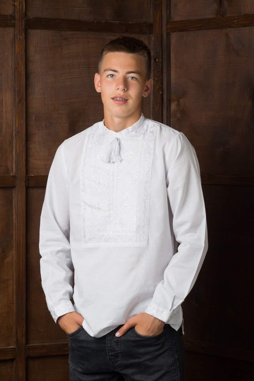 Вышитая мужская рубашка6
