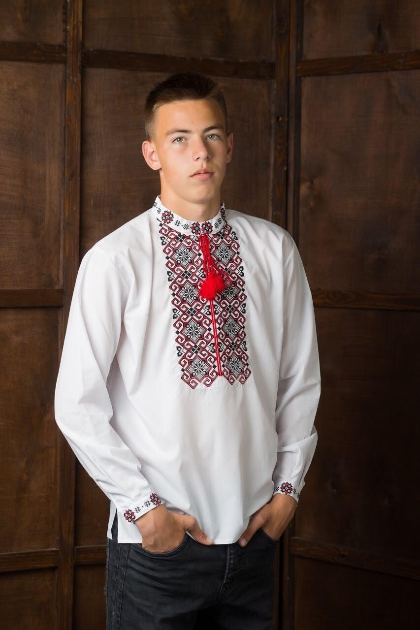 Вышитая мужская рубашка7