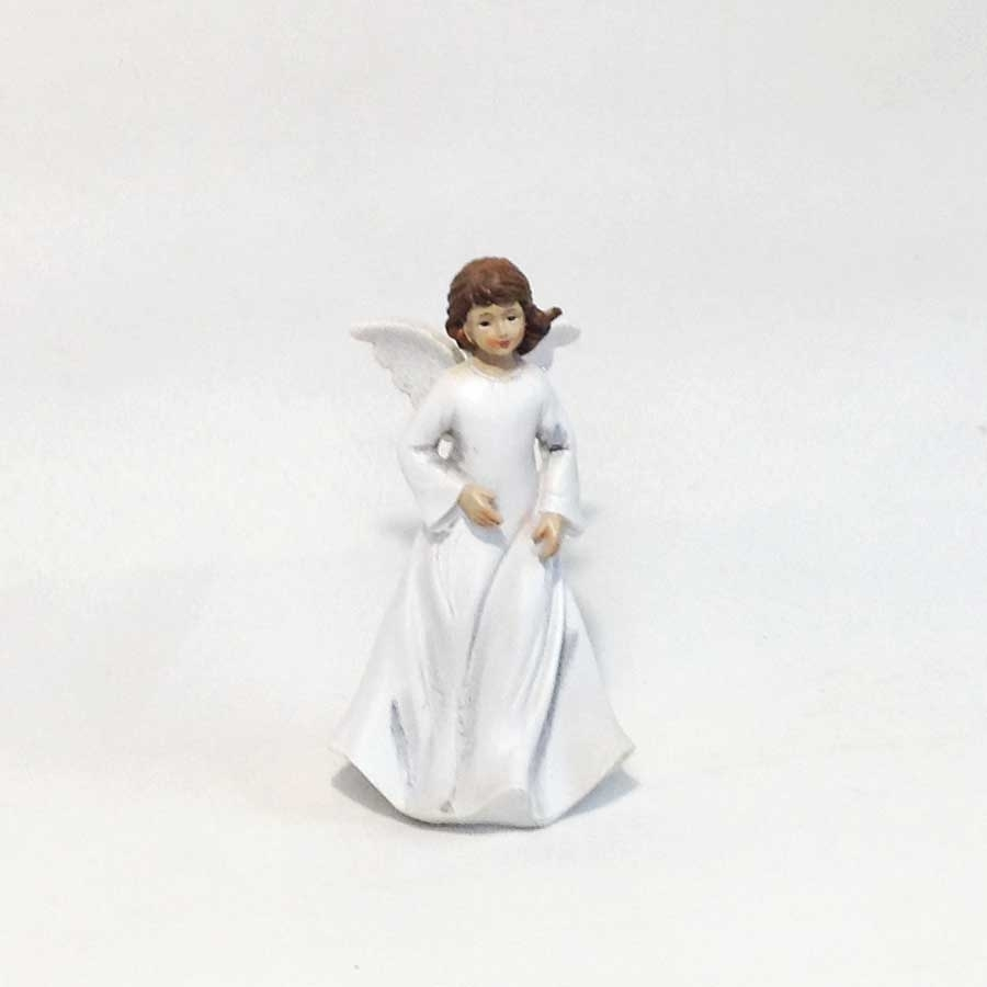 Фигурка ангела в белом платье 17см