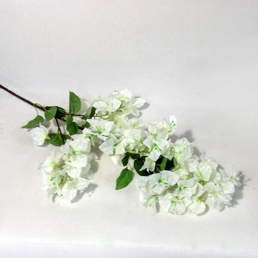 Ветка цветущей бугенвилии 86см