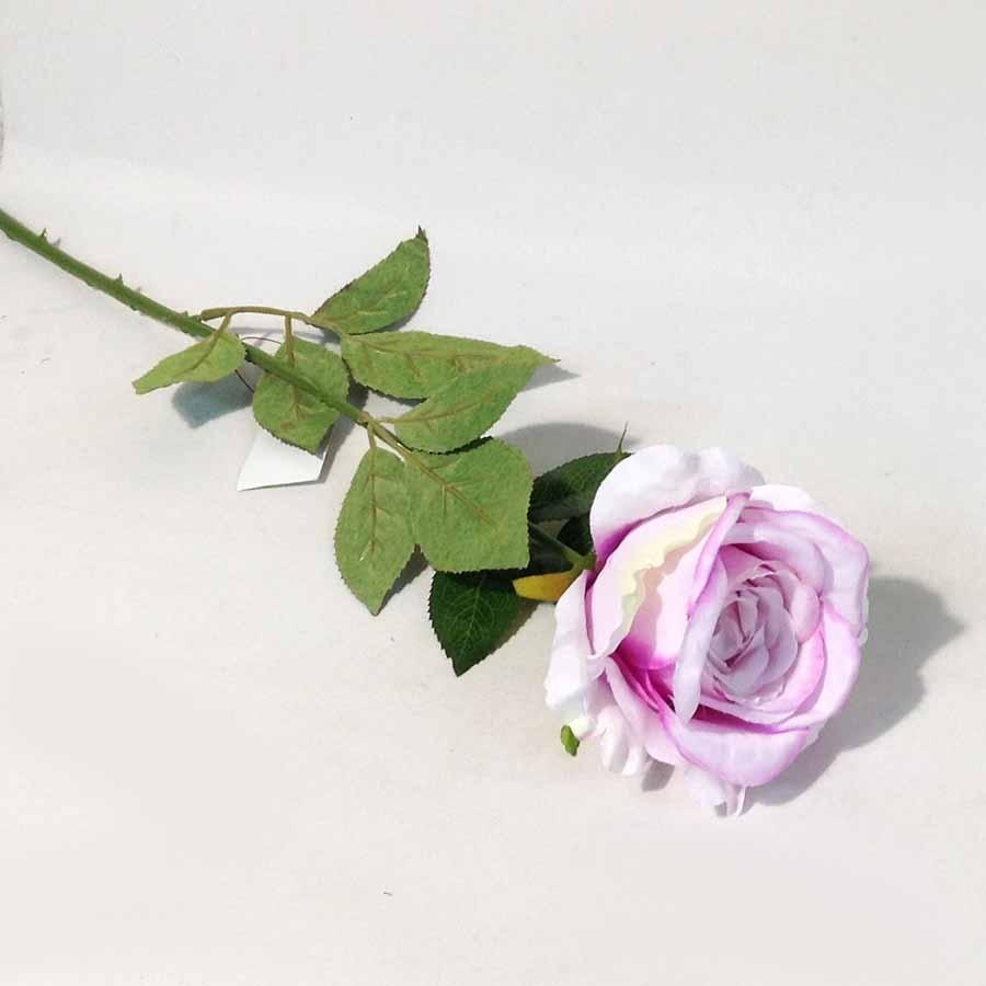 Ветка розы светло-сиреневая 65см