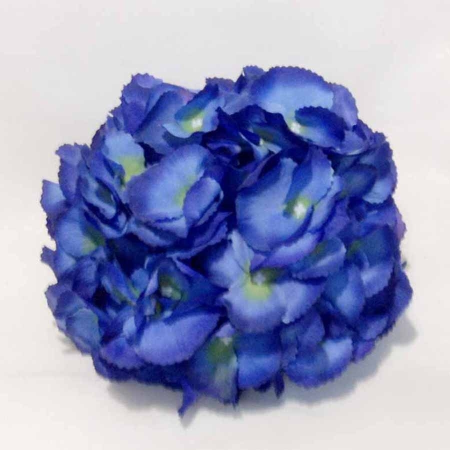 Головка гортензии крупноцветная синяя 23см