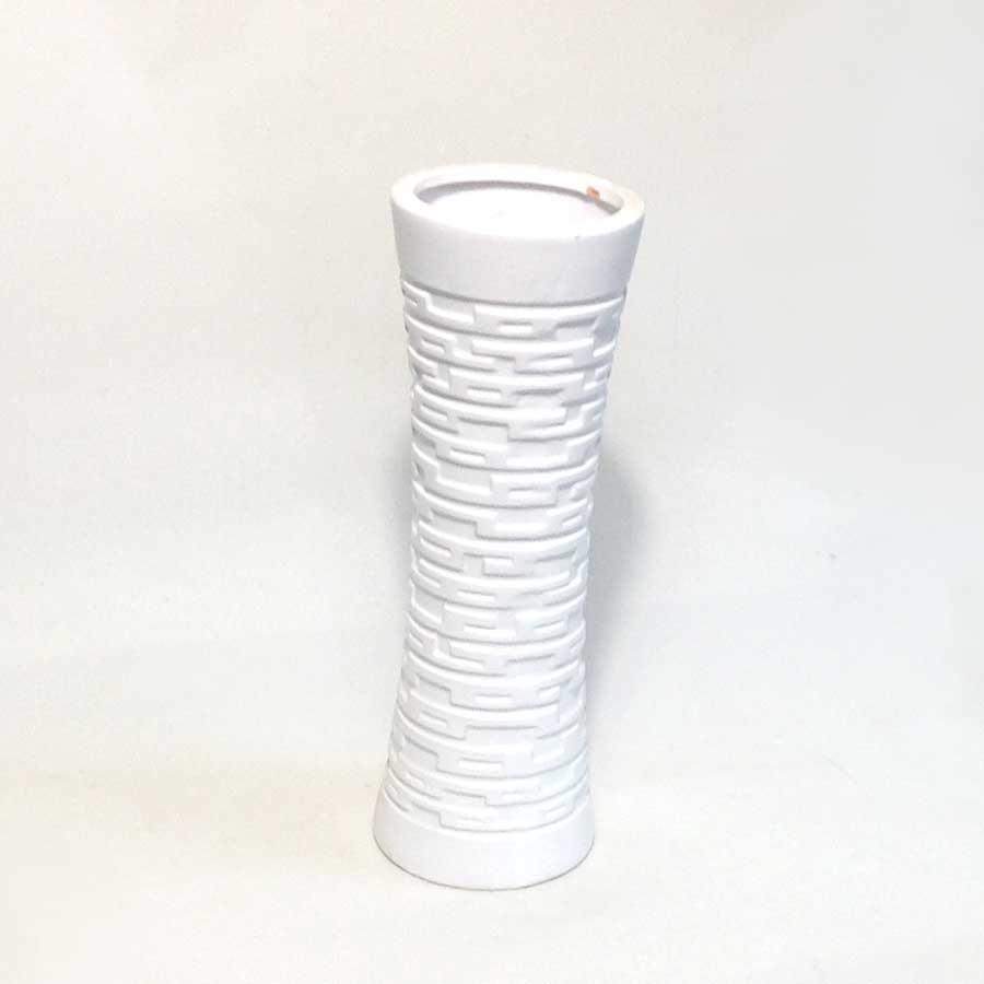 Ваза керамическая белая греческая 30см